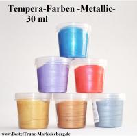 Tempera-Farben -Metallic- 30ml