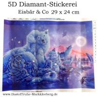 5D Diamant-Stickerei -Eisbär & Co-