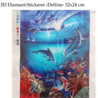 5D Diamant-Stickerei -Delfine- - 5D Diamant-Stickerei -Delfine- 5D Diamant-Stickerei