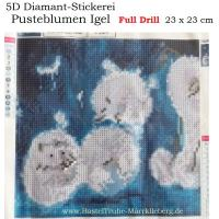 5D Diamant-Stickerei -Pusteblumen Igel- Full Drill-