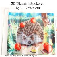 5D Diamant-Stickerei -Igel- - 5D Diamant-Stickerei -Igel- 5D Diamant-Stickerei