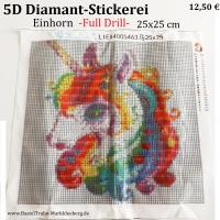 5D Diamant-Stickerei   -Einhorn- Full Drill-
