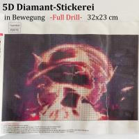 5D Diamant-Stickerei   -in Bewegung- Full Drill-