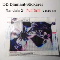 5D Diamant-Stickerei -Mandala 2- Full Drill-