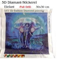 5D Diamant-Stickerei -Elefant- Full Drill-