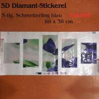 5D Diamant-Stickerei -Schmetterling blau 5tlg. - Full Drill-