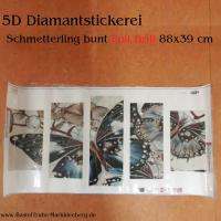 5D Diamant-Stickerei -Schmetterling bunt 5tlg. - Full Drill-