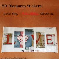 5D Diamant-Stickerei -LOVE 5tlg - Full Drill-